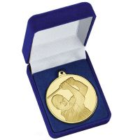 Frosted Glacier Golfer Medal in Case</br>AM2004.01BX